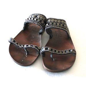 💋Blowfish Bohemian Embellished Slide On Sandals